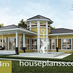 Small House Design Plans with 2 Bedrooms Full Plans - House Plans Sam Shop House Plans, Small House Plans, Metal Building Homes, Building A House, Mountain Ranch House Plans, 6 Bedroom House Plans, Small Farmhouse Plans, Simple House Design, Home Design Plans