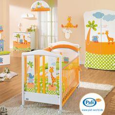Die Pali Baby Kollektion Gigi & Lele hält 2 Betten bereit, hier das Kinderbett Gigi & Lele Slats mit Sprossengittern