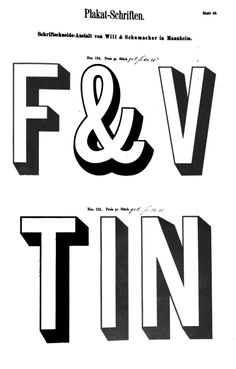 Plakat-Schriften Wheeler & Wilson