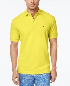 Tommy Hilfiger Men's Classic-Fit Ivy Polo - Green XS