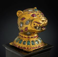 Finial from the throne of Tipu Sultan. South India, Mysore, ca. 1790. Gold…
