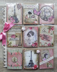 """Vintage Pink Paris""   Pocket Letter @sandrinevachon"