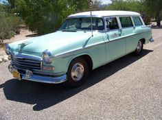 Sea Foam Green 55-6 Chrysler Wagon.