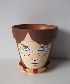 Harry Potter Painted Flower Pot Gift Set