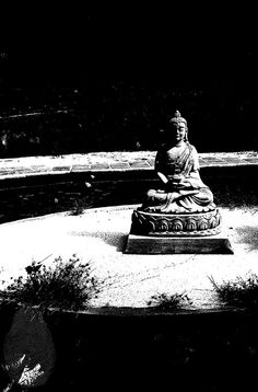 Black & White Photography Buddha Instant by MiTierraEsTuTierra