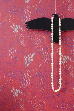 Forest Leaves Wallpaper in red - Pattern People for Hygge & West $135 #wallpaper #wallcovering