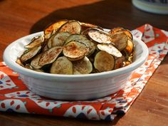 Salt and Vinegar Zucchini Chips ~ Recipe from Valerie's Home Cooking via Food Network