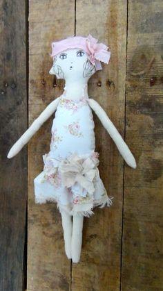 Elegant Rag Doll Shabby Pink And Chic Handmade by by GoHeyJudy
