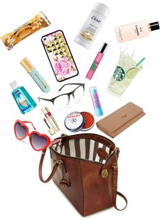 """Purse essentials"" by araizaerica on Polyvore"