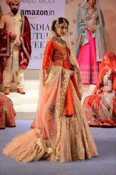 Latest Bridal Lehenga Trends for 2016 Latest Bridal Lehenga, Pakistani Wedding Dresses, Indian Wedding Outfits, Indian Dresses, Indian Outfits, Women's Dresses, Indian Bridal Wear, Asian Bridal, Indian Wear