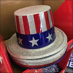 Americana Free-Standing Corrugated Display Point Of Purchase, Star Shape, Fourth Of July, Hooks, Retail, Display, Free, Floor Space, Point Of Sale