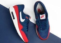 womens nike air max 1 red blue