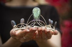 True Blue Me and You: DIYs for Creative People -- Labradorite Crystal Crown