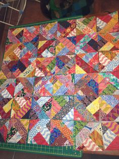 Funky pattern jelly roll quilt
