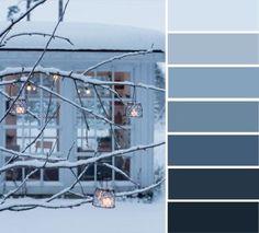 Blue grey winter color palette,snow, winter ,winter color inspiration, #colorideas #winter