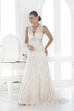 Amazing Sheath/Column Straps Floor-length Chapel Lace Wedding Dress