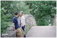 Tenney Park Madison WI | engagement session at bridge, Tenney Park, Madison WI