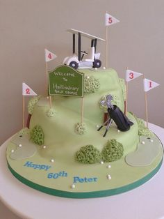 The Golf Course Cake