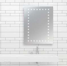 Java LED Illuminated Bathroom Mirror with Demist Pad and Shaver Socket IP44 Switched JAVA online at www.sparksdirect.co.uk