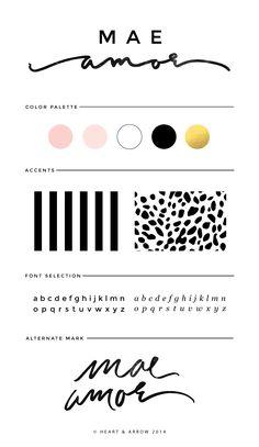 Mae Amor Fashion Blog Brand Design // by Heart & Arrow Design