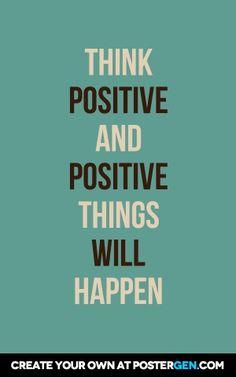 Think Positive Print