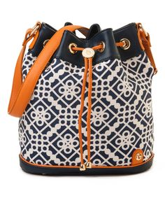 Look at this Spartina 449 Navy & Orange Sailor's Watch Drawstring Bag on #zulily today!