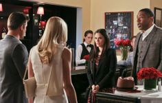 "#HartofDixie -- ""A Good Run of Bad Luck"" -- Image Number: HA317b_0405b.jpg -- Pictured (L-R): Scott Porter as George and Jaime King as Lemon (backs to camera) with Rachel Bilson as Dr. Zoe Hart and Cress Williams as Lavon -- Photo: Mike Yarish/The CW -- © 2014 The CW Network, LLC. All rights reserved. C 2014 THE CW NETWORK, LLC. ALL RIGHTS RESERVED."