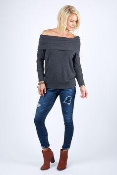 Madison Brushed Jersey Off Shoulder by MICHAEL STARS - EVEREVE