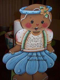 Handpainted Summer  Gingerbread Paper Towel por stephskeepsakes, $28.95