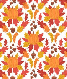 Fall by Alyssa Nassner. Thanksgiving Wallpaper, Holiday Wallpaper, Fall Wallpaper, Iphone Wallpaper, Blog Backgrounds, Colorful Backgrounds, Fall Patterns, Print Patterns, Walpapers Iphone