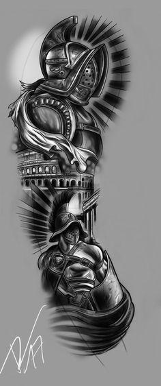 FULLSLEEVE Design - A Warriors Pride by StevenDureckArtworks