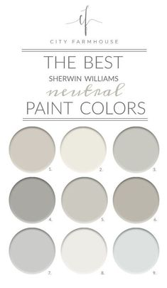 The Best Sherwin-Williams Neutral Paint Colors Although I do love color and I tend to gravitate towards neutrals so I thought I would share the best 9 I found from Sherwin-Williams. - The Best Sherwin-Williams Neutral Paint Colors Best Gray Paint, Best Paint Colors, Grey Paint Colors, Interior Paint Colors, Paint Colors For Home, House Colors, Interior Design, Best Neutral Paint Colors, Interior Office