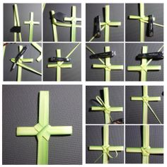 Palm Sunday, how to make a cross Gotta learn for Sunday School Leaf Crafts, Diy And Crafts, Palm Cross, Flax Weaving, Basket Weaving, Church Nursery, Easter Cross, Palm Sunday, Church Crafts