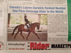Lauren Barwick, 4-Star #Parelli Professional, now ranked no. 1 #Para-Dressage rider in the world!