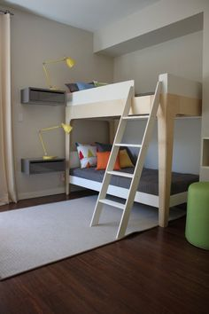 What a cool idea for bunk bed night stands!