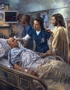 """The Healer"" by Nathan Greene When I work by others, I always want to have Jesus by my side."