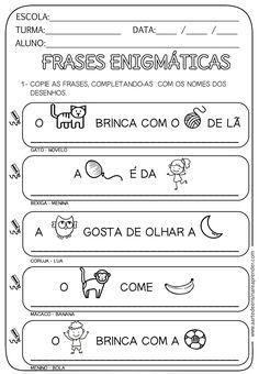 Portuguese Lessons, A30, Teaching Kids, Professor, Homeschool, Language, Classroom, Enigma, Preschool Literacy Activities