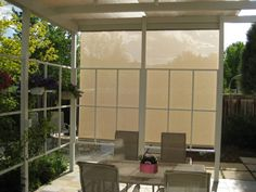 Exterior Oasis Shade on west facing patio from Innovative Openings in Louisville, CO. 303-665-1305
