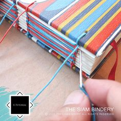 e-Tutorial Coptic Weave Binding with Paired Needles