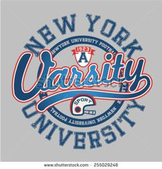 Varsity graphic about New York. Vector illustration