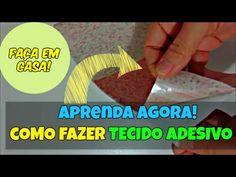 Faça Tecido Adesivo em Casa! | Como Fazer Tecido Adesivo DIY - YouTube
