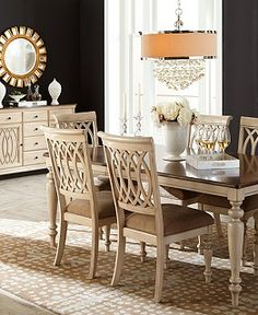 Oak Harbor Pc Dining Set Table   Side Chairs X - Macys dining room sets
