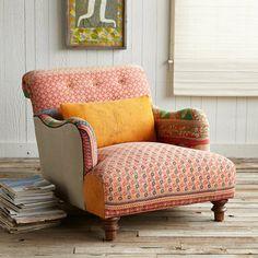 ONE-OF-A-KIND YASHODHAN SARI ARMCHAIR          -                    Sofas & Chairs          -                    Furniture          -                    Furniture & Decor                          | Robert Redford's Sundance Catalog