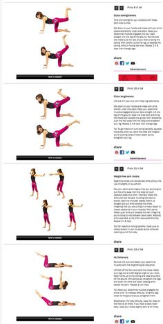 Essentrics Workout from Chatelaine, Pt. Workout Days, Barre Workout, Fun Workouts, Yoga Inspiration, Fitness Inspiration, Fitness Diet, Health Fitness, Thigh Exercises, Stretches