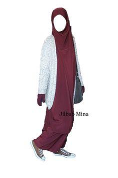 Jilbab Mina - Jilbab 2 pièces sarouel