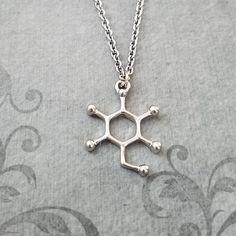 Glucose Molecule Necklace SMALL Glucose Necklace Sugar Molecule Charm  Necklace Glucose Jewelry Chemi 148180c9e1e