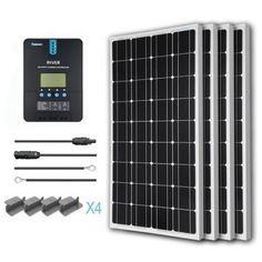 Free Shipping. Buy Renogy 400W 12V Solar Panel Monocrystalline Off Grid Starter Kit with 40A Rover MPPT Charger Controller at Walmart.com