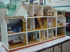groot houten poppenhuis