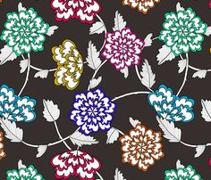 Colourful Flowers fabric by lydia_meiying, available from Spoonflower