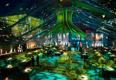 A clear-topped tent showed the night sky. HBO Emmy Party Channels ...